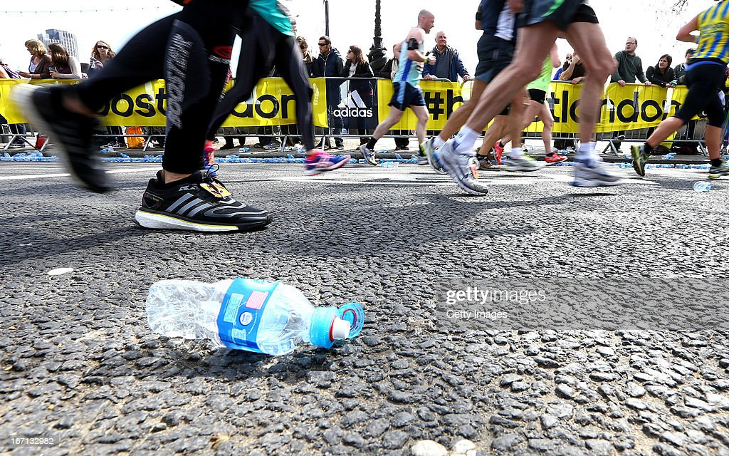 General atmosphere during adidas Boost at the London Marathon on April 21, 2013 in London, England.