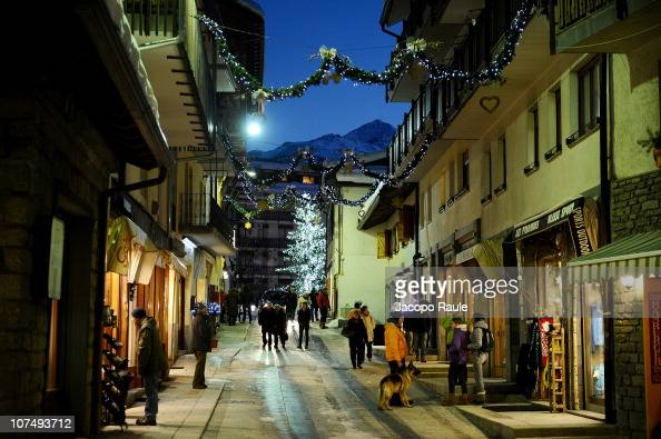General atmosphere during Courmayeur Noir Festival on December 9 2010 in Courmayeur Italy