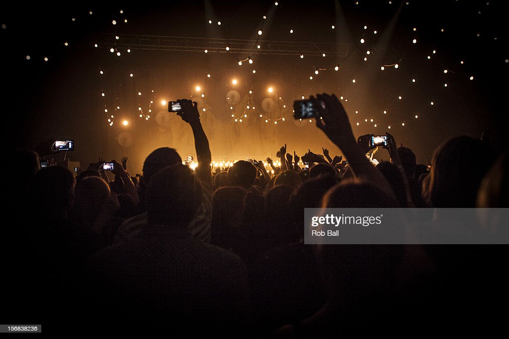General atmosphere during Mumford & Sons performance at Portsmouth Guildhall on November 22, 2012 in Portsmouth, England.