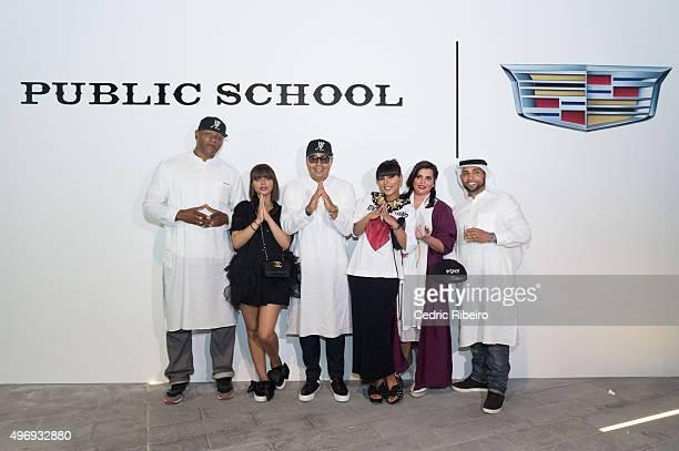 A general atmosphere during Public School show at Dubai Design District on November 9 2015 in Dubai United Arab Emirates