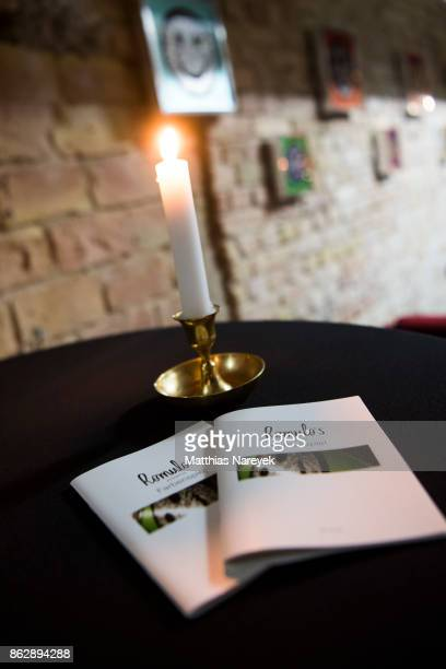 General atmosphere during Romulo's 'Farbenspiel' exhibition opening at Hotel Provocateur on October 18 2017 in Berlin Germany