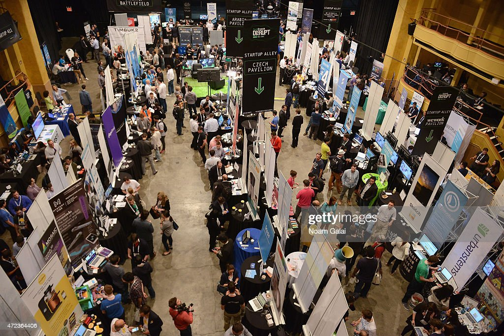 General atmosphere during TechCrunch Disrupt NY 2015 Day 3 at The Manhattan Center on May 6 2015 in New York City