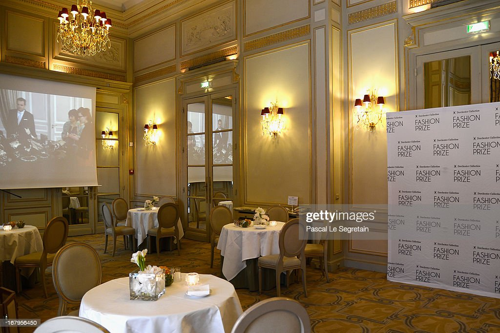 General atmosphere during the 2013 Launch of the Dorchester Collection Fashion Prize 2013 at Hotel Plaza Athenee on May 3, 2013 in Paris, France.