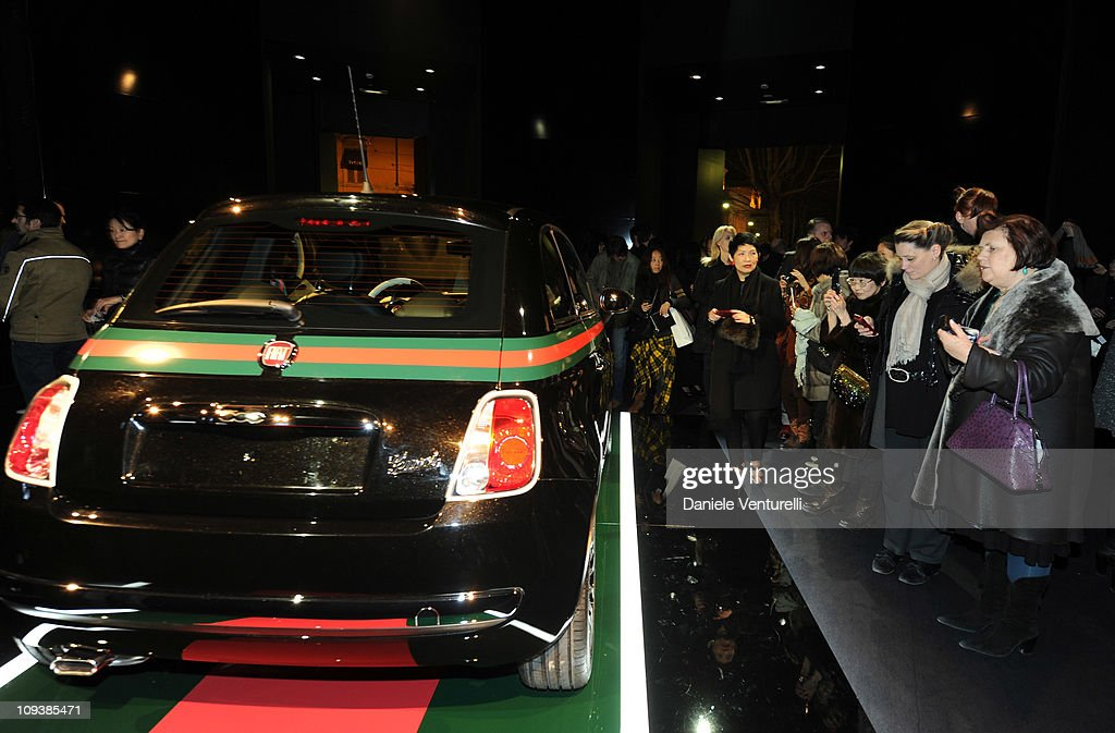General atmosphere during the 500 by Gucci launch party as part of the Milan fashion week womenswear Autumn/Winter 2011on February 23, 2011 in Milan, Italy.