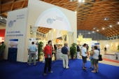 General Atmosphere during the Meeting of the Friendship among the Peoples on August 24 2009 in Rimini Italy Diplomats politicians economists...