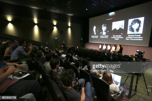 General atmosphere during the Warrior Poets panel discussion for SeriesFest Season 3 at Sie FilmCenter on June 28 2017 in Denver Colorado