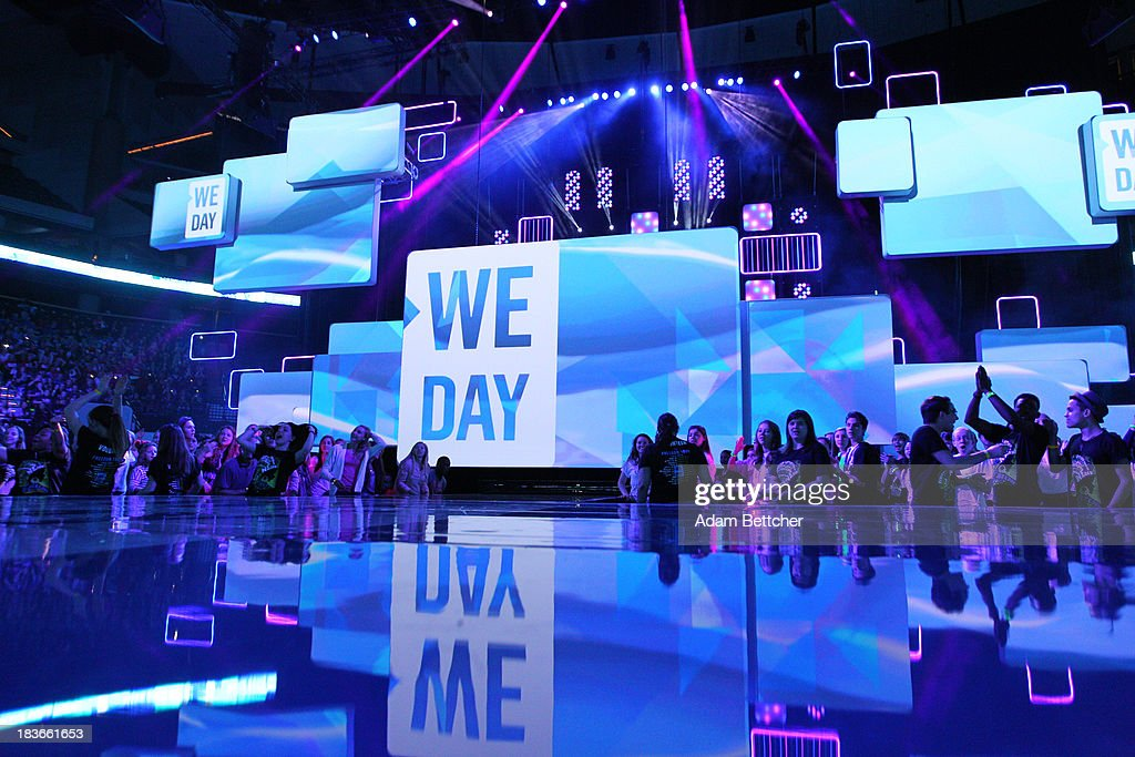 General atmosphere during the We Day Minnesota event at the Xcel Energy Center in St. Paul, Minnesota on October 8, 2013