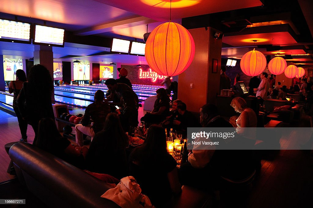 General atmosphere is displayed at the 40th Anniversary American Music Awards Charity Bowl Pre-Party at Lucky Strike Lanes at L.A. Live on November 17, 2012 in Los Angeles, California.