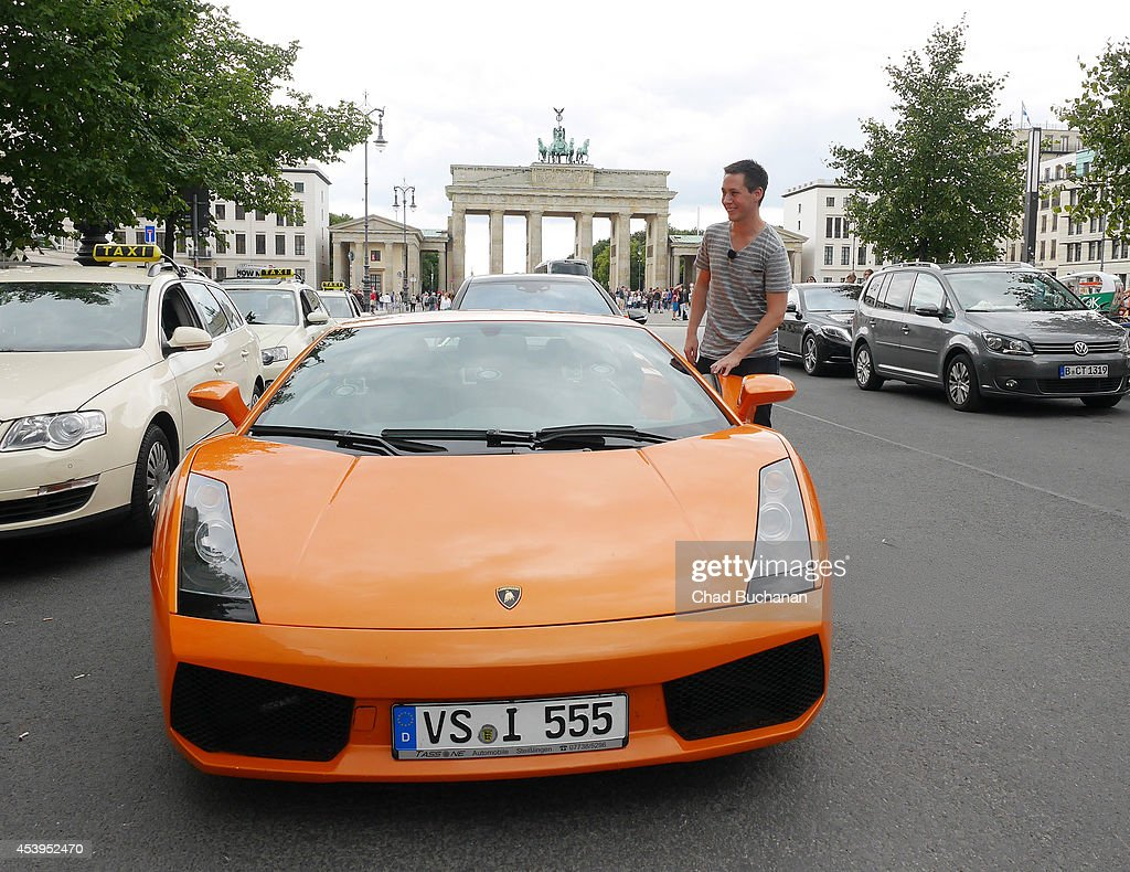General Atmosphere of a Lamborghini that of Irina Shayk takes a tour of Berlin with on August 22, 2014 in Berlin, Germany.