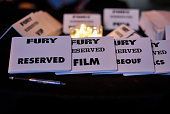 General Atmosphere of a reception after the Washington DC premiere of 'Fury' at The Newseum on October 15 2014 in Washington DC