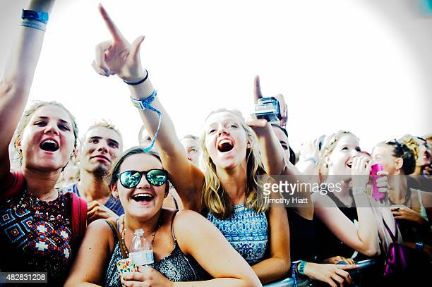 General atmosphere of day 3 of Lollapalooza at Grant Park on August 2 2015 in Chicago Illinois