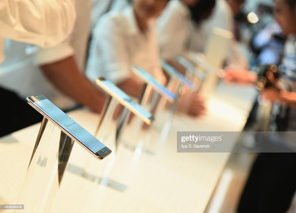 General atmosphere of Samsung Unpacked 2015 featuring the Galaxy S6 edge on August 13 2015 in New York City