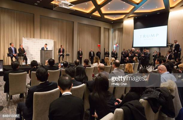 General atmosphere of the press conference for theTrump International Hotel And Tower Vancouver Grand Opening on February 28 2017 in Vancouver Canada