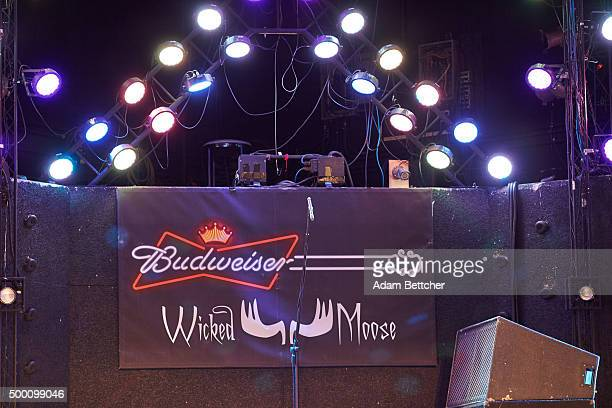 General atmosphere of the stage area of the Wicked Moose Nightclub where musician Scott Weiland was scheduled to perform the night after he was found...