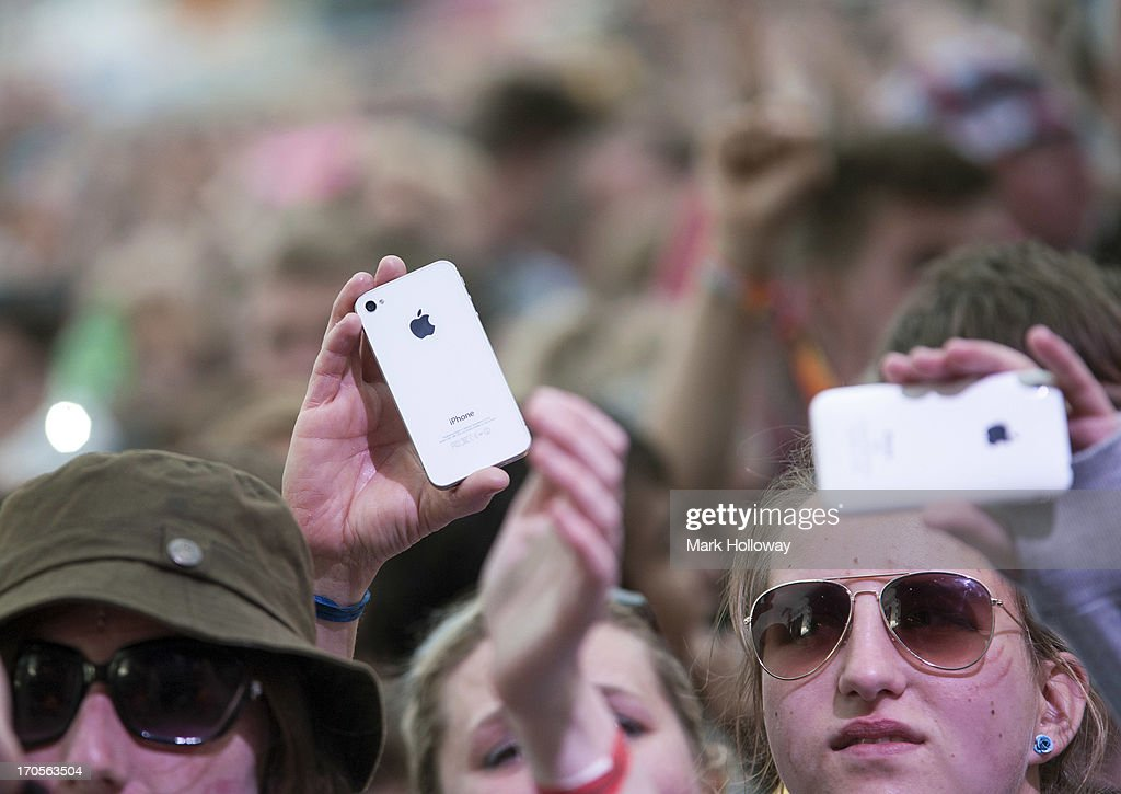 General Atmosphere on Day 2 of Isle Of Wight Festival 2013 at Seaclose Park on June 14, 2013 in Newport, Isle of Wight.