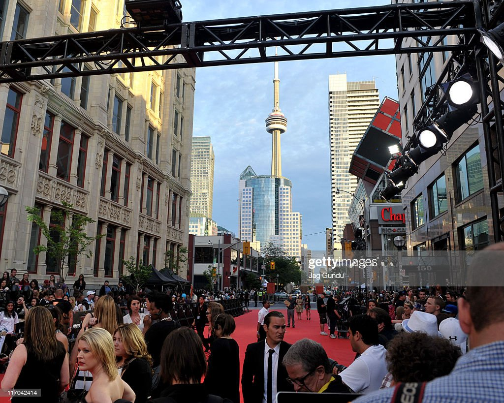 General atmosphere on the red carpet at the 22nd Annual MuchMusic Video Awards at the MuchMusic HQ on June 19, 2011 in Toronto, Canada.