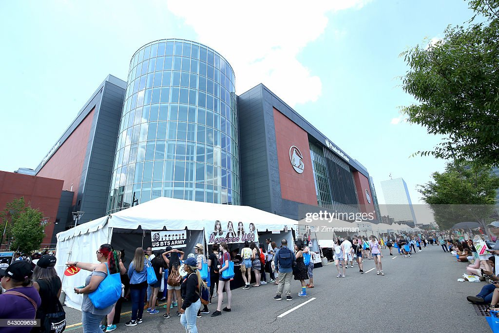 General atmosphere outside at KCON 2016 Day 2 at the Prudential Center on June 25, 2016 in Newark, New Jersey.