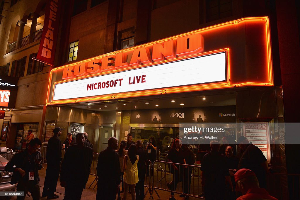 General atmosphere prior to Microsoft Live! at Advertising Week featuring music from Avicii with Cazzette at Roseland Ballroom on September 25, 2013 in New York City.
