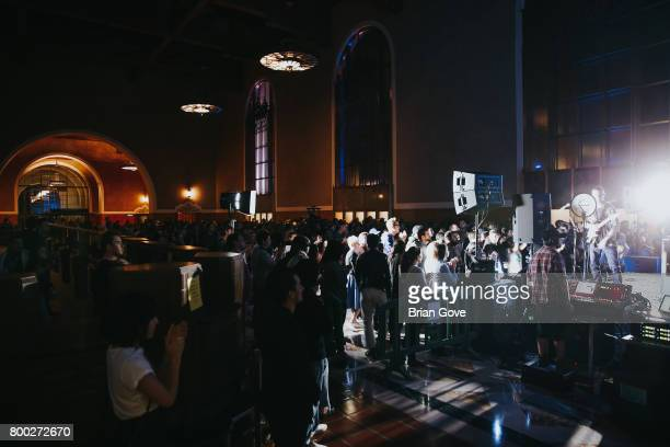 General atmosphere shot during Cold War Kids performance at Union Station on June 23 2017 in Los Angeles California
