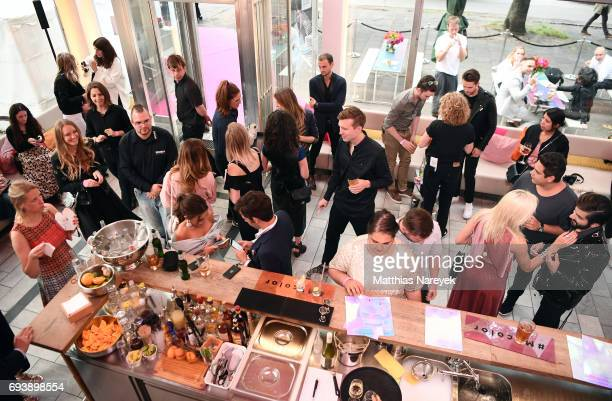 General atmosphere the Schwarzkopf x Refinery29 event at Bar Babette on June 8 2017 in Berlin Germany