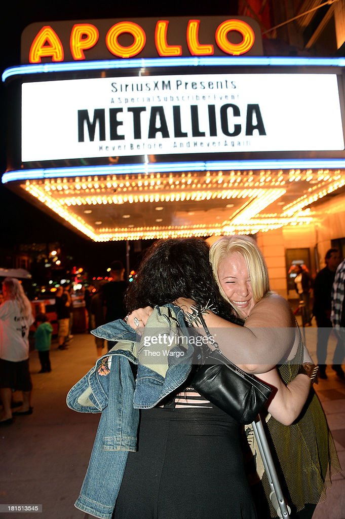 A general atompshere of Metallica's private, exclusive concert for SiriusXM listeners at The Apollo Theater on September 21, 2013 in New York City.