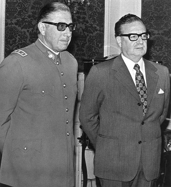 Coup Spain: General Augusto Pinochet (L) Poses With Chilean President