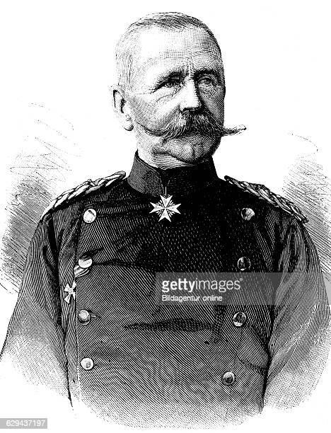 General bernhard franz wilhelm von werder 1823 1907 historical illustration circa 1893