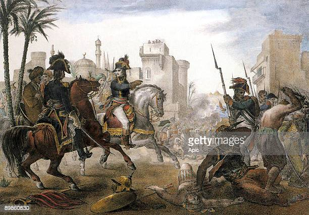 general Bonaparte chief general of the french army in Egypt putting down the Cairo uprising on october 21 1798 at the time of the french occupation...