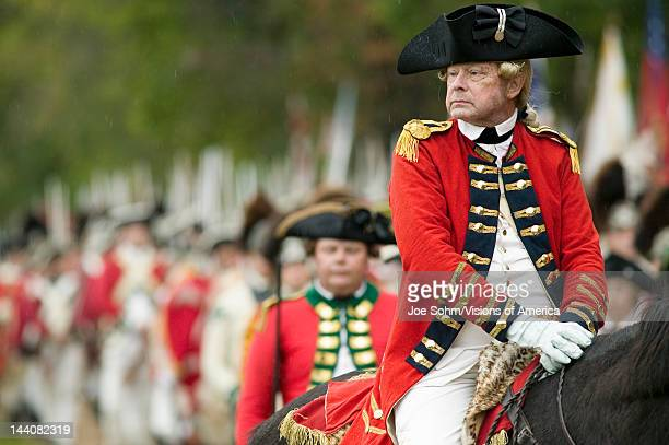 General Charles O'Hara surrenders to General George Washington at the 225th Anniversary of the Victory at Yorktown a reenactment of the siege of...