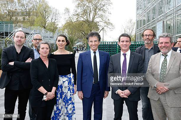 General Curator of the exhibition Sylvie de Pondt Exhibition Curator Agnes Carayon President of the 'Institut du Monde Arabe' Jack Lang French Prime...