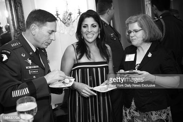 General David Petraeus Jill Kelley and Holly Petraeus attending event in which Gen Petraeus was presented with community service award at the home of...