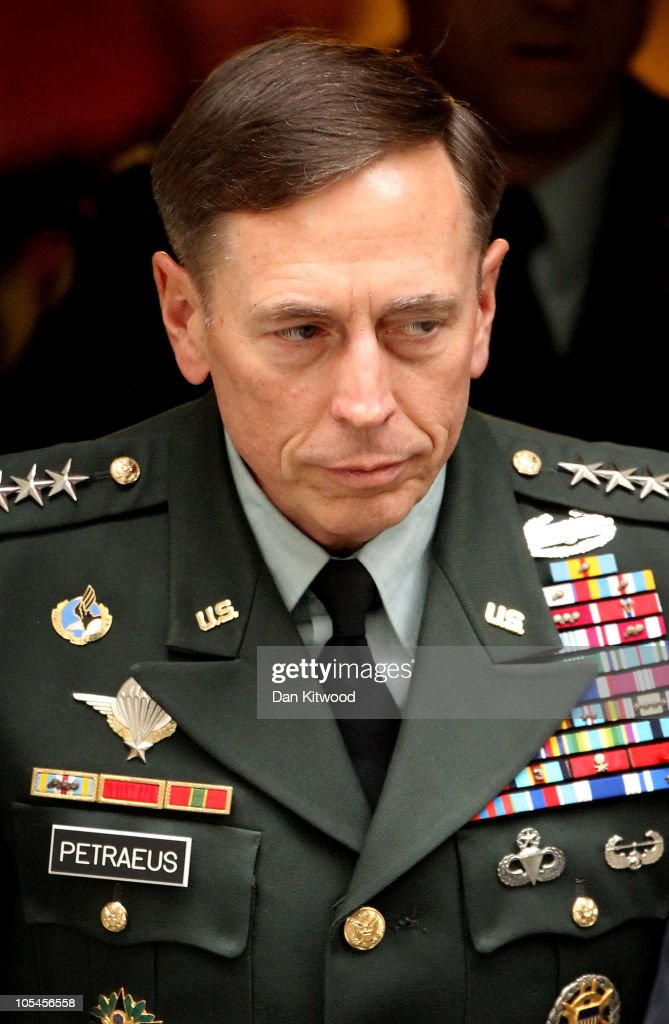 General <a gi-track='captionPersonalityLinkClicked' href=/galleries/search?phrase=David+Petraeus&family=editorial&specificpeople=175826 ng-click='$event.stopPropagation()'>David Petraeus</a> leaves 10 Downing Street after meeting with British Prime Minister David Cameron on October 14, 2010 in London, England. Petraeus, the top US commander in Afghanistan, has called for an investigation into the death of British aid worker Linda Norgrove, who was held hostage in Afghanistan. Ms Norgrove died after a failed rescue opperation by US forces on October 8, 2010 in Afghanistan.