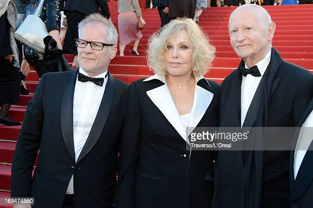 General Delegate of the Cannes Film Festival Thierry Fremaux actress Kim Novak and President of the Cannes International Film Festival Gilles Jacob...