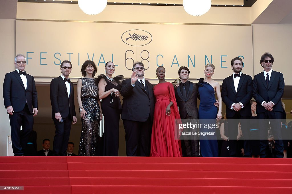 General Delegate of the Cannes Film Festival Thierry Fremaux and Jury members Ethan Coen Sophie Marceau Rossy de Palma Guillermo del Toro Rokia...