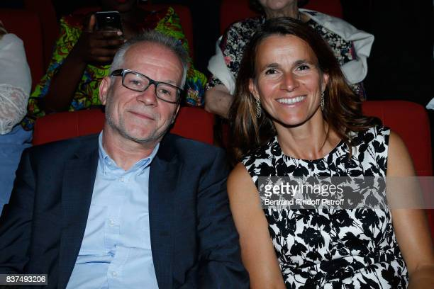 General Delegate of the Cannes Film Festival Thierry Fremaux and Aurelie Filippetti attend the 10th Angouleme FrenchSpeaking Film Festival Opening...