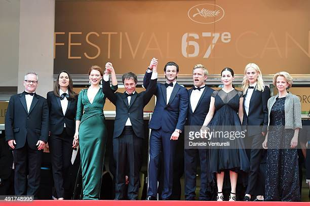 General Delegate of the Cannes Film Festival Thierry Fremaux French Culture minister Aurelie Filippetti Lea Seydoux Bertrand Bonello Gaspard Ulliel...