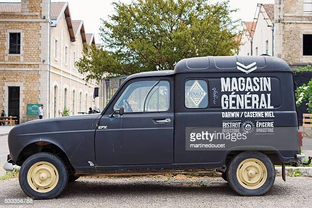 Magasin General delivery car, Espace Darwin Bordeaux, France.