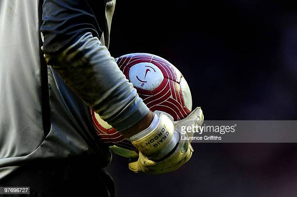 General detail of Craig Gordon of Sunderland during the Barclays Premier League match between Sunderland and Manchester City at the Stadium of Light...