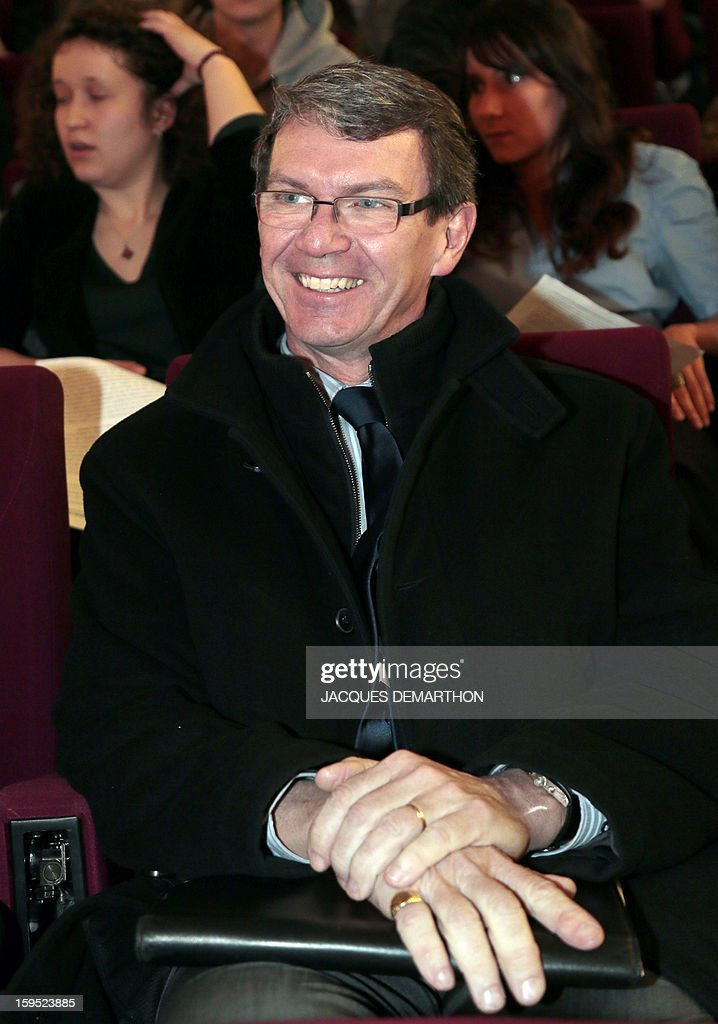 General director for Research Roger Genet, attends a debate upon student success, on January 14, 2013, at Paris Diderot University, ahead of French government's draft law on higher education and research. AFP PHOTO JACQUES DEMARTHON