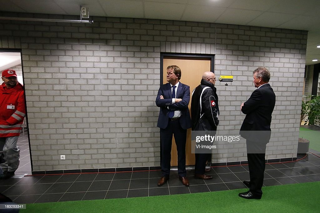 general director Marcel van den Bunder of Roda JC (CL) during the Dutch Eredivisie match between Roda JC Kerkrade and PEC Zwolle at the Parkstad Limburg on Oktober 5, 2013 in Kerkrade, The Netherlands