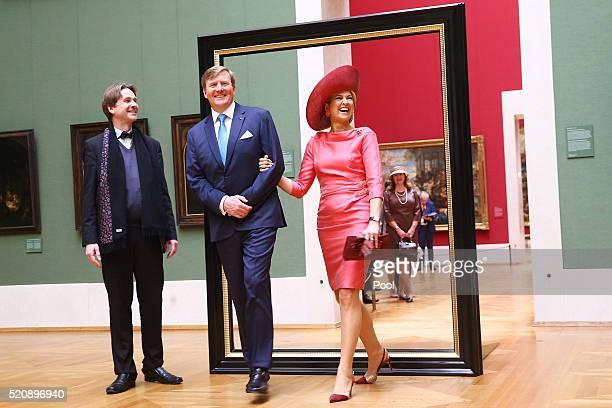 General Director of Bayerischen Staatsgemaeldesammlungen Bernd Maaz King WillemAlexander and Queen Maxima of the Netherlands visit the Alte...