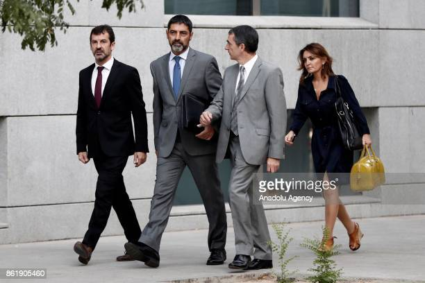 General Director of Catalonia local police Josep Lluis Trapero arrives to the Audiencia Nacional Court to testify within investigation after...