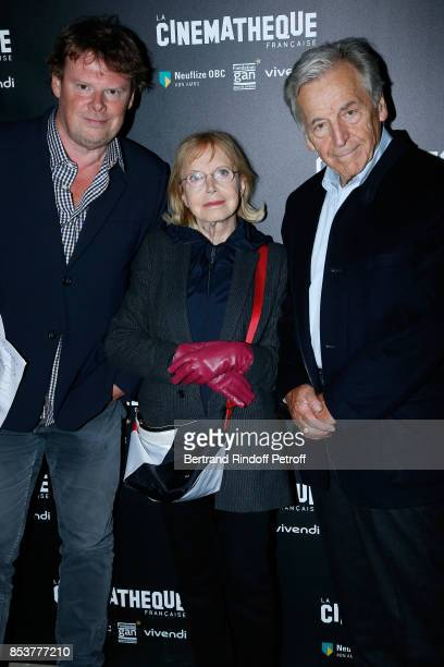 General Director of Cinematheque Francaise Frederic Bonnaud actress Bulle Ogier and President of Cinematheque Francaise Constantin CostaGavras attend...
