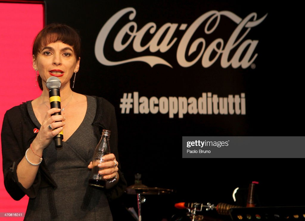 General Director of Coca-Cola Italy Evguenia Stoichkova attends a party during day two of the FIFA World Cup Trophy Tour on February 20, 2014 in Rome, Italy.