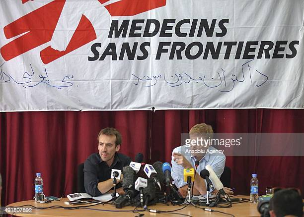 General Director of Doctors Without Borders or Médecins Sans Frontières Christopher Stokes and Country Representative Guilhem Molinie hold a press...