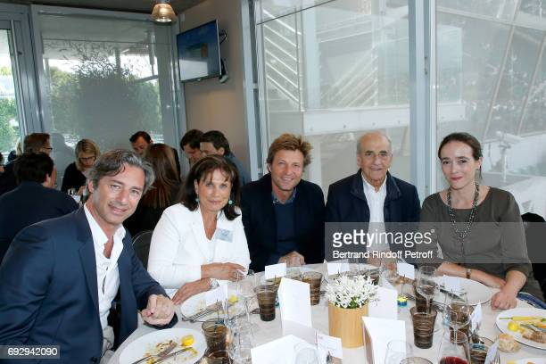 General Director of Facebook France Laurent Solly journalists Anne Sinclair Laurent Delahousse JeanPierre Elkabbach and President of France...