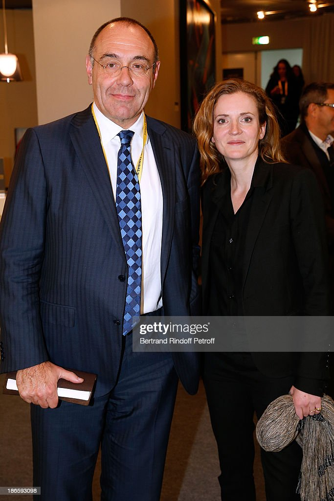 General director of French Federation of Tennis, Gilbert Ysern and politician <a gi-track='captionPersonalityLinkClicked' href=/galleries/search?phrase=Nathalie+Kosciusko-Morizet&family=editorial&specificpeople=2547835 ng-click='$event.stopPropagation()'>Nathalie Kosciusko-Morizet</a> attend day five of BNP Paribas Tennis Masters held at Bercy on November 1, 2013 in Paris, France.