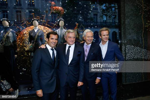 General Director of Galeries Lafayette Nicolas Houze CEO of Dior Sidney Toledano Chairman of the Board of Galeries Lafayette Group Philippe Houze and...