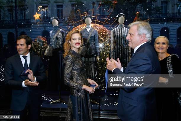 General Director of Galeries Lafayette Nicolas Houze Natalia Vodianova CEO of Dior Sidney Toledano and Stylist of Dior Maria Grazia Chiuri attend the...