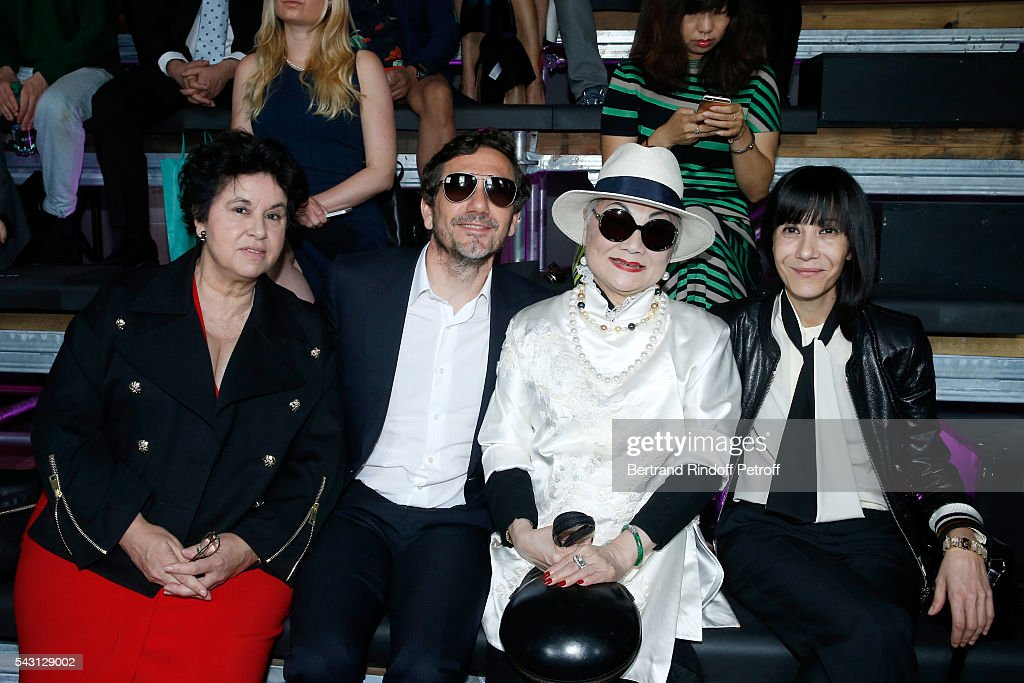 General Director of Lanvin Michele Huiban, guest, Owner of Lanvin Shaw Lan Wang and Artistic Director and Stylist of Lanvin Women, Bouchra Jarrar attend the Lanvin Menswear Spring/Summer 2017 show as part of Paris Fashion Week on June 26, 2016 in Paris, France.